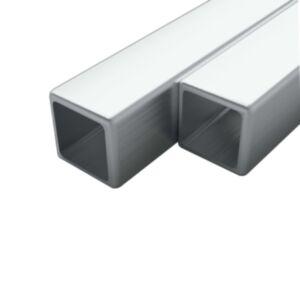 Pood24 2 tk roostevabast terasest torud kandilised V2A 1 m 20x20x1,9mm
