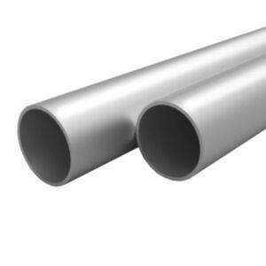 Pood24 4 tk alumiiniumtorud, ümmargused, 1 m Ø 35 x 2 mm
