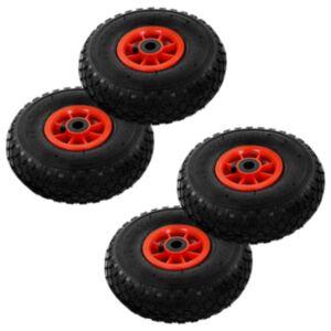 Pood24 pakikäru rattad, 4 tk, kumm 3,00–4 (260 x 85)