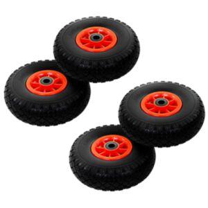 Pood24 pakikäru rattad, 4 tk, toekas PU 3,00-4 (260 x 85)