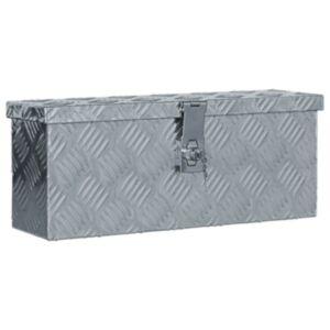Pood24 alumiiniumist kast 48,5 x 14 x 20 cm, hõbedane