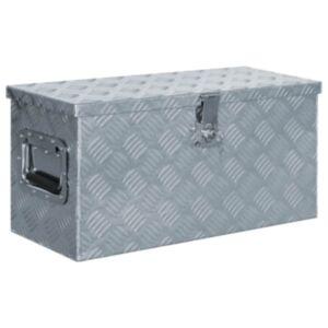 Pood24 alumiiniumist kast 61,5 x 26,5 x 30 cm, hõbedane