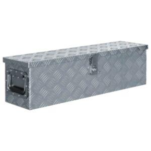 Pood24 alumiiniumist kast 80,5 x 22 x 22 cm, hõbedane