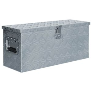 Pood24 alumiiniumist kast 76,5 x 26,5 x 33 cm, hõbedane