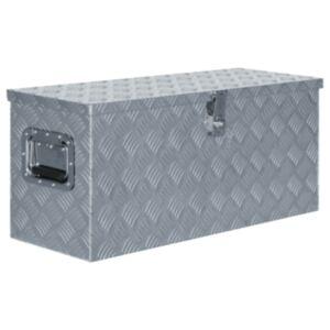 Pood24 alumiiniumist kast 80 x 30 x 35 cm, hõbedane