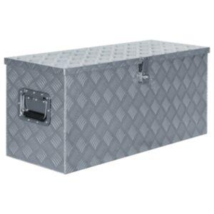 Pood24 alumiiniumist kast 90,5 x 35 x 40 cm, hõbedane