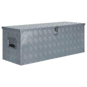 Pood24 alumiiniumist kast 110,5 x 38,5 x 40 cm, hõbedane
