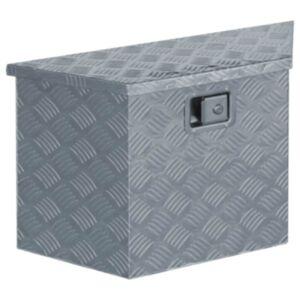 Pood24 alumiiniumist kast 70 x 24 x 42 cm, trapetsikujuline, hõbedane