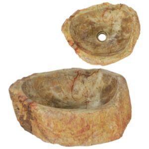 Pood24 valamu 45 x 35 x 15 cm, fossiilidega kivi, kreemjas