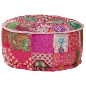 Pood24 lapitehnikas ümmargune tumba, puuvill, 40 x 20 cm, roosa