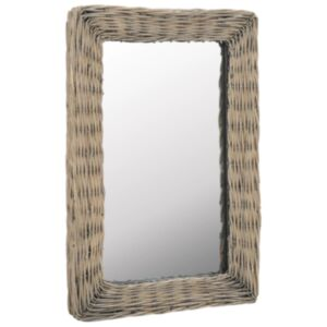 Pood24 vitstest raamiga peegel 40 x 60 cm pruun
