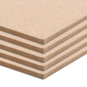 Pood24 MDF-plaat 5 tk ristkülikukujuline 120 x 60 cm 2,5 mm