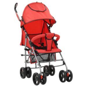 Pood24 kaks ühes kokkupandav lapsevanker/jalutuskäru, punane, teras