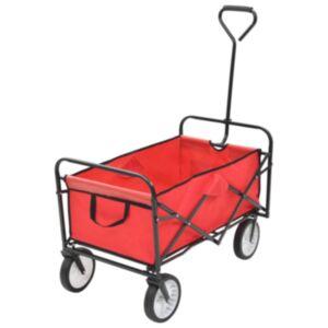 Pood24 kokkupandav käsikäru, teras, punane