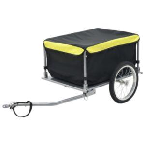 Pood24 kaubahaagis jalgrattale, must ja kollane, 65 kg