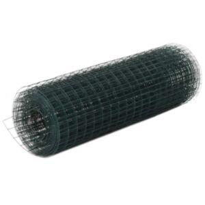 Pood24 kanade traataed, teras PVC kattega, 10 x 0,5 m, roheline