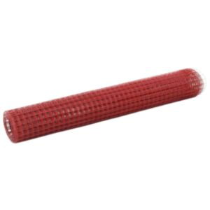 Pood24 terasest aiavõrk PVC kattega 10 x 1 m, ruudukujuline, punane