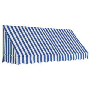 Pood24 bistroo varikatus, 250 x 120 cm, sinine ja valge