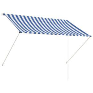 Pood24 kokkupandav varikatus, 200 x 150 cm, sinine ja valge