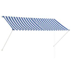 Pood24 kokkupandav varikatus, 250 x 150 cm, sinine ja valge