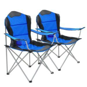 Pood24 kokkupandavad matkatoolid 2 tk, 96 x 60 x 102 cm, sinine