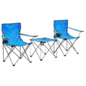 Pood24 matkalaua ja toolide komplekt, 3 tk, sinine