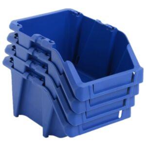 Pood24 virnastatavad hoiukastid 250 tk 103 x 165 x 76 mm, sinine