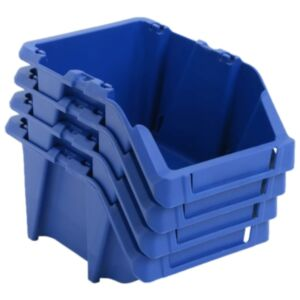 Pood24 virnastatavad hoiukastid 150 tk 125 x 195 x 90 mm, sinine