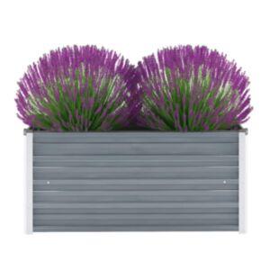 Pood24 taimekast, tsingitud teras, 100 x 40 x 45 cm, hall