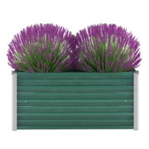 Pood24 taimekast, tsingitud teras, 100 x 40 x 45 cm, roheline
