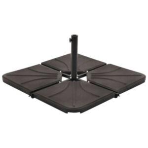 Pood24 päikesevarju raskusplaat, must, betoon, kandiline, 18 kg