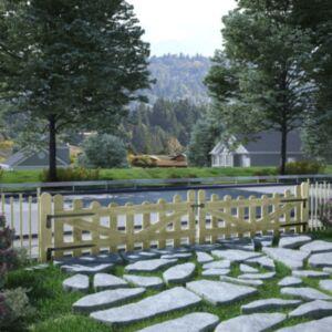 Pood24 aiaväravad, 2 tk, immutatud männipuit, 150 x 60 cm