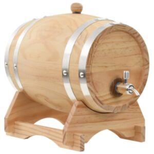 Pood24 veinivaat kraaniga, männipuit, 6 l