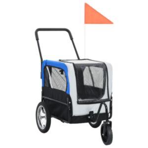 Pood24 lemmiklooma rattatreiler ja jooksukäru, hall ja sinine
