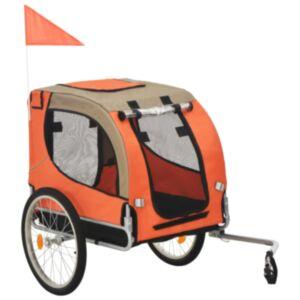 Pood24 jalgratta järelkäru koerale, oranž ja pruun