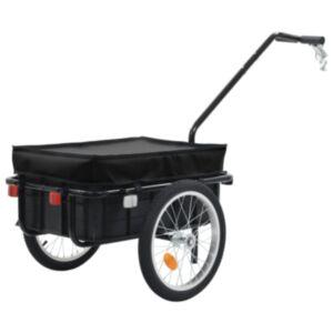 Pood24 jalgratta pakihaagis/käsikäru, 155 x 61 x 83 cm, teras, must