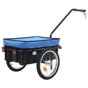 Pood24 jalgratta pakihaagis/käsikäru, 155 x 61 x 83 cm, teras, sinine