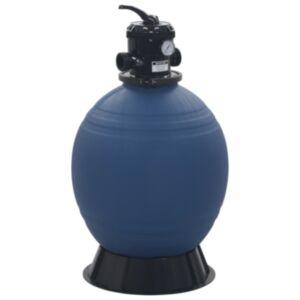 Pood24 basseini liivafilter 6 asendis ventiiliga sinine 560 mm