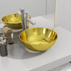 Pood24 valamu 28 x 10 cm, keraamiline, kuldne