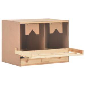 Pood24 kana pesakast 2 sektsiooniga, 63 x 40 x 45 cm, männipuit