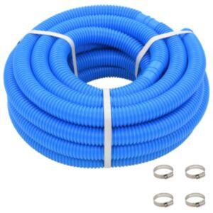 Pood24 basseinivoolik klambritega 38 mm 12 m sinine