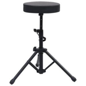 Pood24 reguleeritav trummitool, must, ümmargune