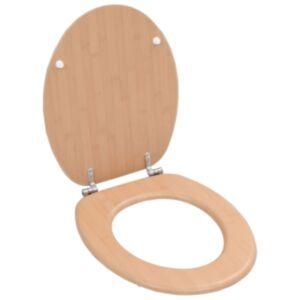 Pood24 WC prill-laud kõvasti sulguv, MDF, bambuse disainiga