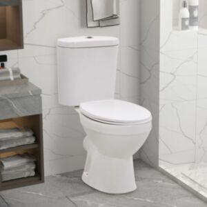 Pood24 WC-pott loputuskastiga, pehmelt sulguv, keraamiline, valge