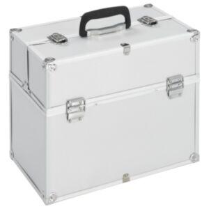 Pood24 jumestuskohver, 37 x 24 x 35 cm, hõbedane, alumiinium
