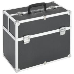 Pood24 jumestuskohver, 37 x 24 x 35 cm, must, alumiinium