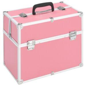 Pood24 jumestuskohver, 37 x 24 x 35 cm, roosa, alumiinium