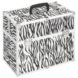 Pood24 jumestuskohver, 37 x 24 x 35 cm, sebratriipudega, alumiinium