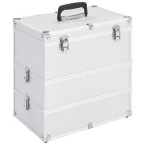 Pood24 jumestuskohver, 37 x 24 x 40 cm, hõbedane, alumiinium