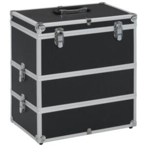 Pood24 jumestuskohver, 37 x 24 x 40 cm, must, alumiinium